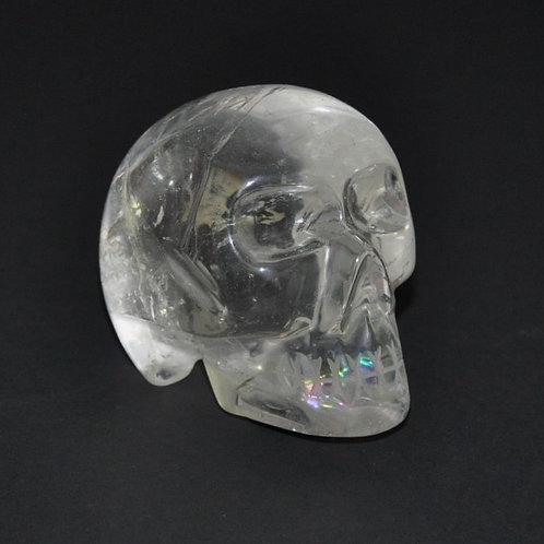 caveira em quartzo cristal