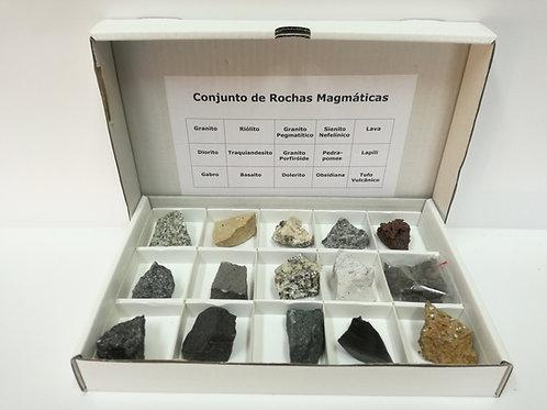 Conjunto com 15 Rochas Magmáticas