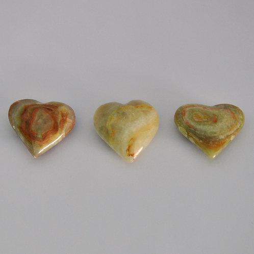 corações em onix