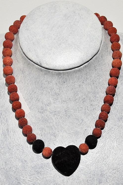 fio de coral vermelho com lava