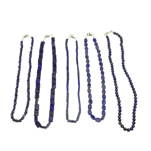 colares de lapis-lazuli