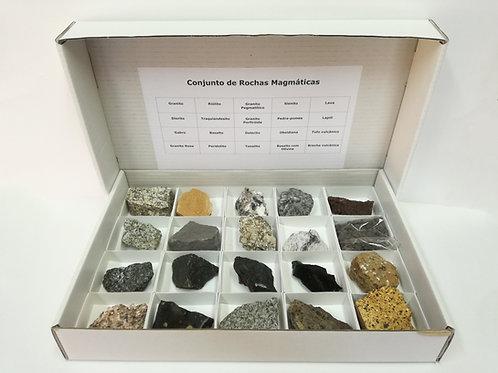 Conjunto com 20 Rochas Magmáticas