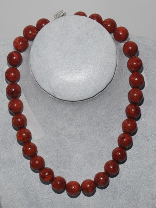 fio de coral vermelho