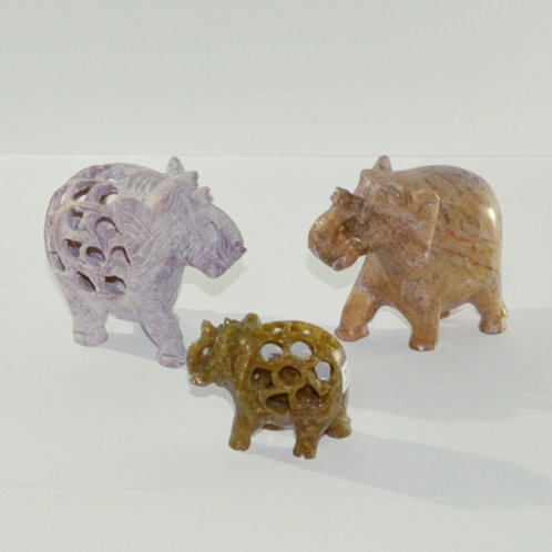 elefantes em pedra, grande