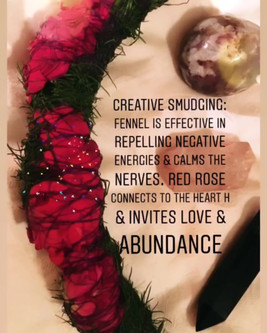 I'm super into sustainable smudging and