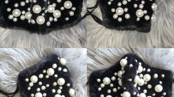 Fuzzy Pearl Mask