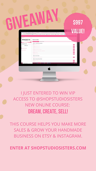 giveaway Dream, Create, Sell.png