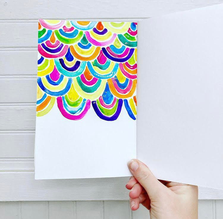 rainbow art trend