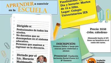 """Curso de Capacitación Docente """"Aprender a Convivir en la Escuela"""""""