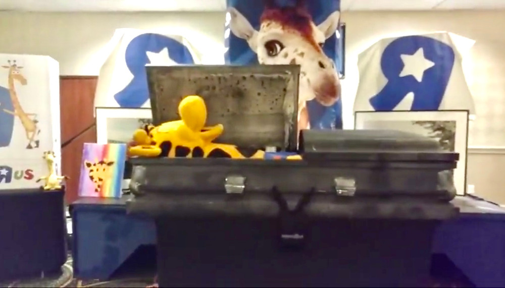 Geoffrey the Toys-R-Us Giraffe...at his own funeral