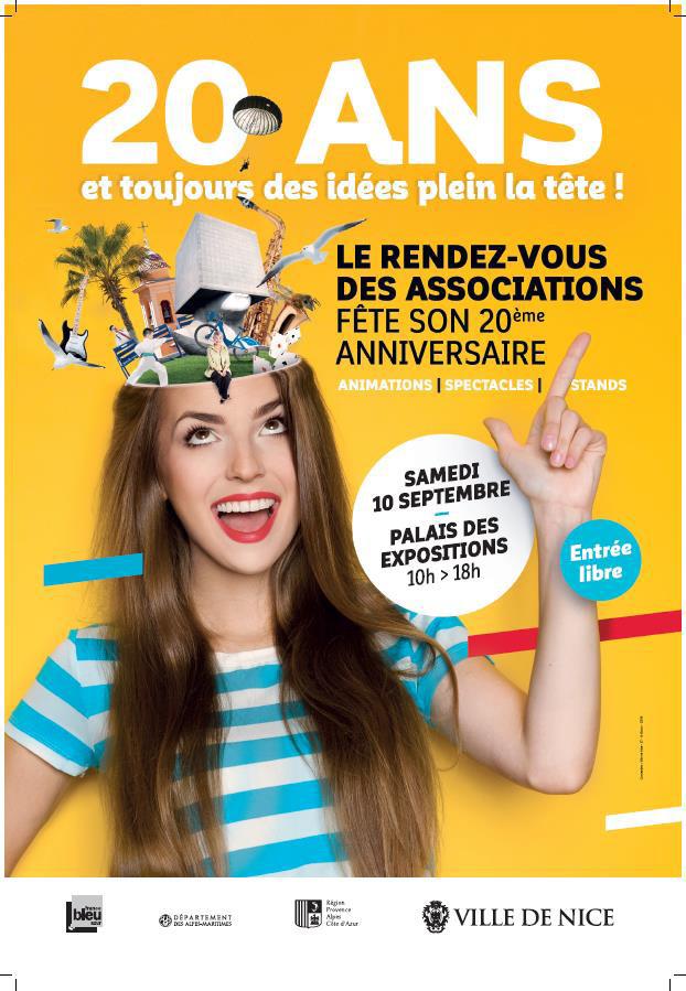 Venez nous rencontrer au forum des associations le samedi 10 septembre au Palais des Expositions à Nice