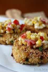 Crab Cakes served with Corn Relish