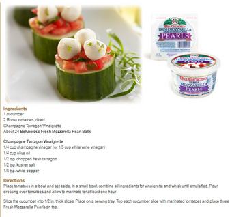 Fresh Mozzarella Cucumber Bites