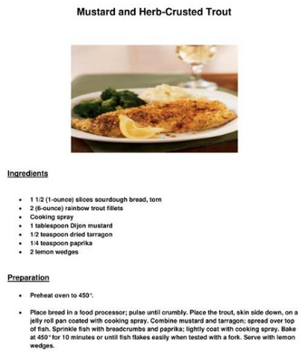 Mustard and Herb-Crusted Trout