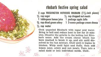 Rhubarb festive spring salad