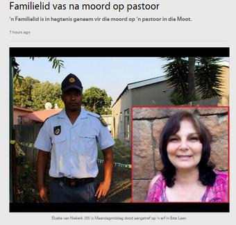 Familielid vas na moord op pastoor