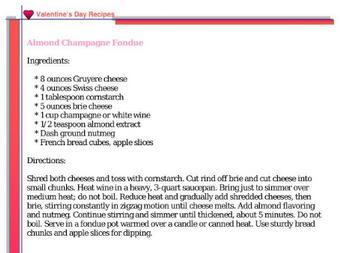 Almond Champagne Fondue