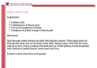 BBQ Lobster Tails