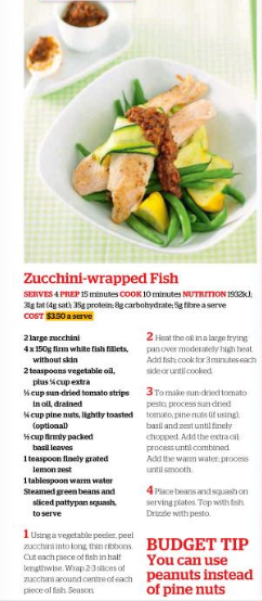Zucchini-wrapped Fish