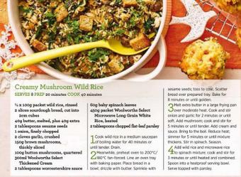 Creamy mushroom wild rice