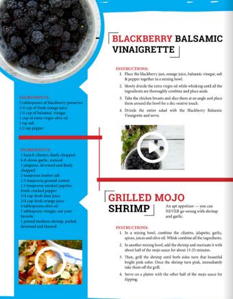 Grilled Mojo Shrimp with Blackberry Balsamic Vinaigrette