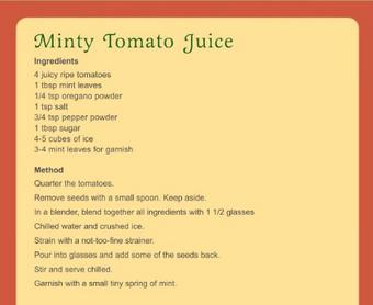 Minty tomato juice
