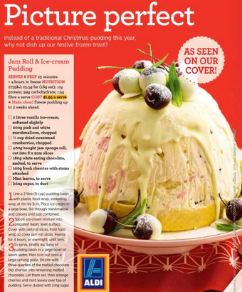 Jam roll & ice-cream pudding