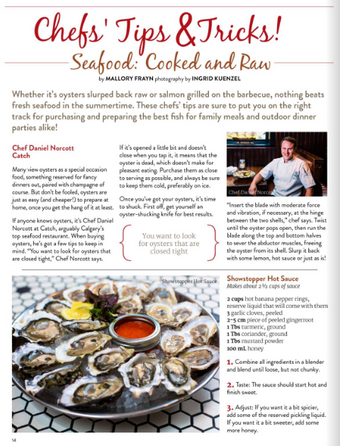 Seafood: Cooked & Raw