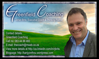 Greenfield Coaching​ - Johan Brits: Executive Coach & Thinking Partner
