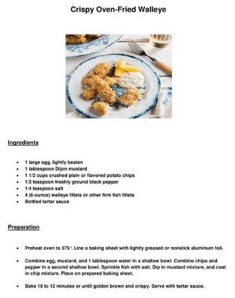 Crispy Oven-Fried Walleye