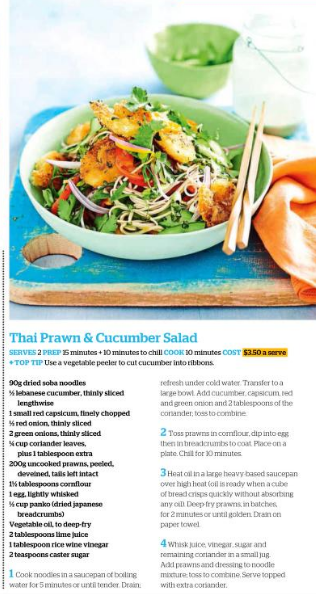 Thai prawn & cucumber salad