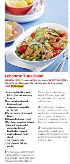 Lebanese Tuna Salad
