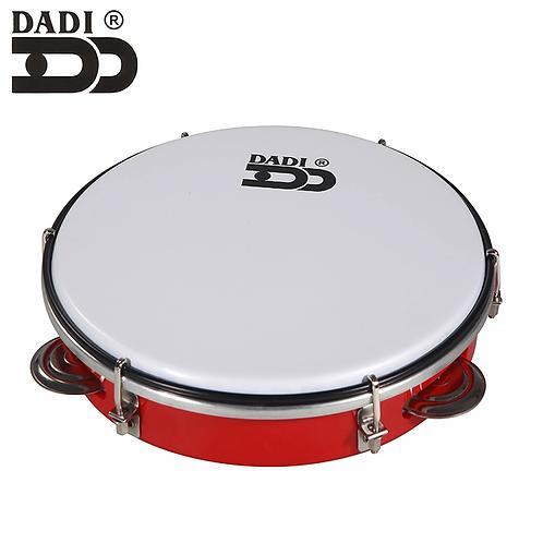 """Dadi MT6-10 Tambourine 10"""" Pelle Sintetica Doppia Fila Sonagli"""