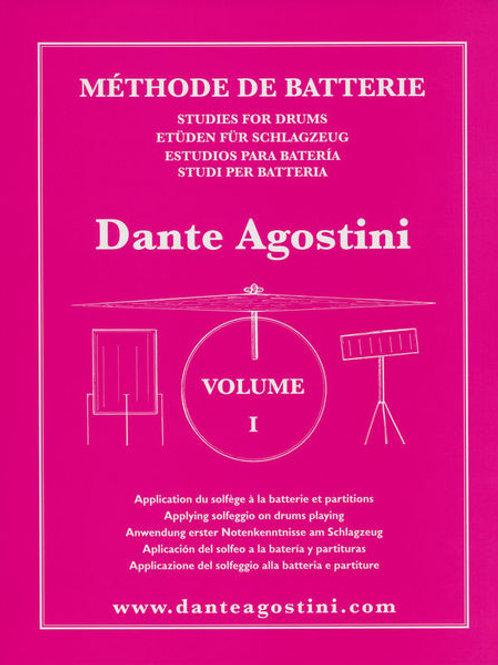 Dante Agostini metodo batteria vol 1