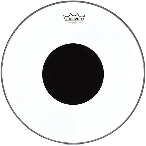 Remo Controlled Sound Clear Black Dot 13""
