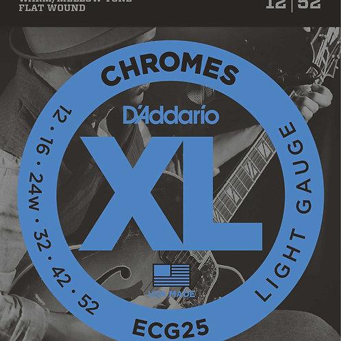 D'addario ECG25 Chrome Liscia Elettrica 12-52