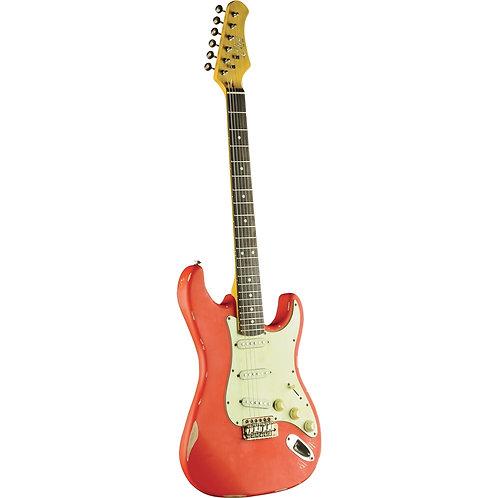 Eko S-300 Relic Stratocaster Red