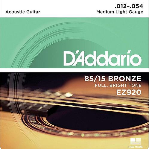 D'addario EZ920 Bronze Acustica 12-54