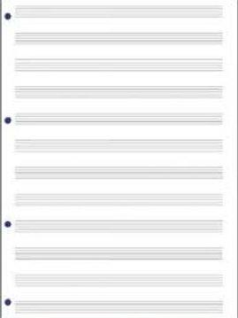 quaderno musica - fogli pentagrammati