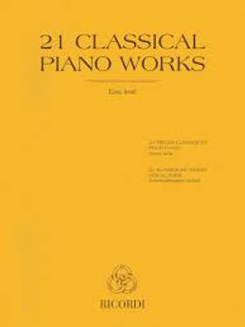 21 classical piano works easy level