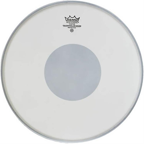 """Remo Controlled Sound Coated 14"""" White Dot"""