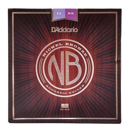 D'addario NB1152 Nickel Bronze Acustica 11-52