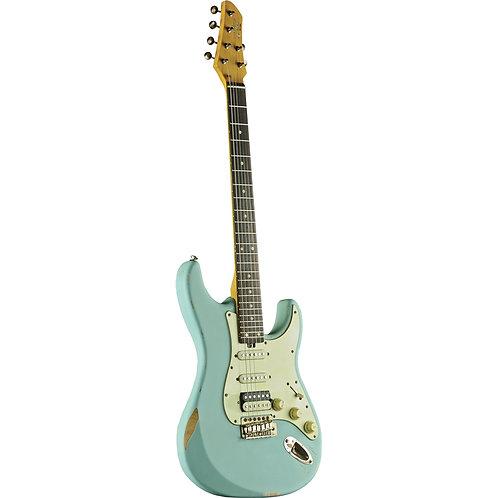 Eko Aire Relic Stratocaster Daphne Blue