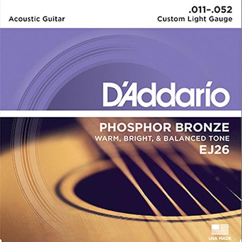D'addario EJ26 Phosphor Bronze 11-52 Acustica