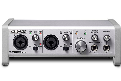 Tascam 102i 10in 2out audio midi