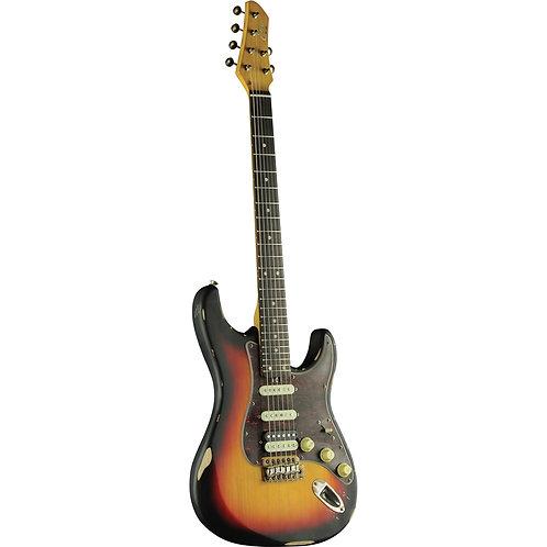 Eko Aire Relic Stratocaster Sunburst