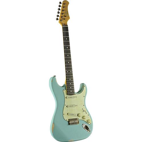 Eko S-300 Relic Stratocaster Daphne Blue