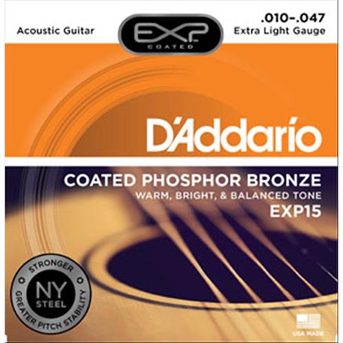 D'addario EXP15 Phosphor Bronze Coated Acustica 10-47