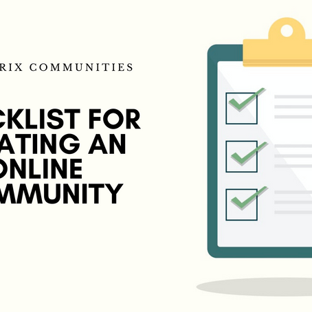 Checklist for Creating an Online Community