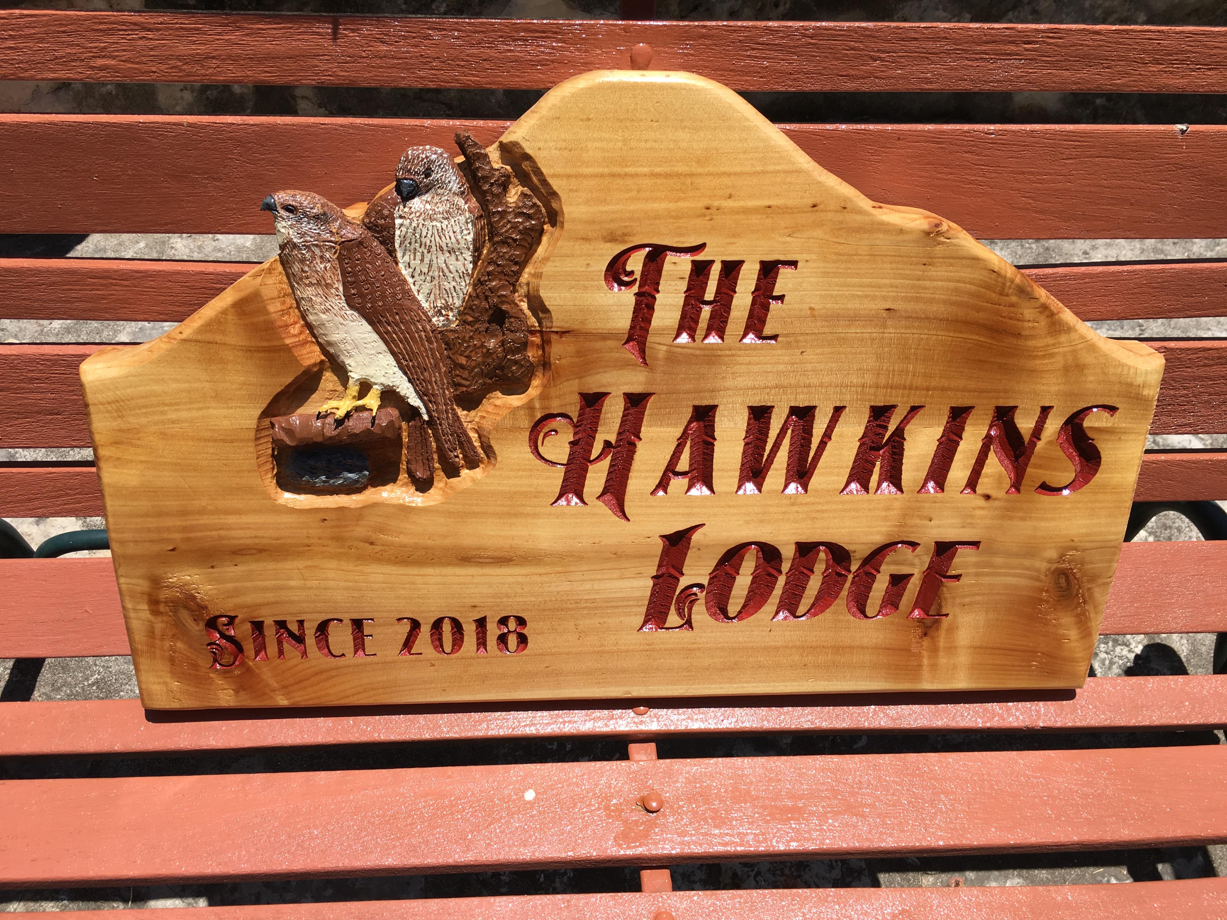 Cedar Hawk sign